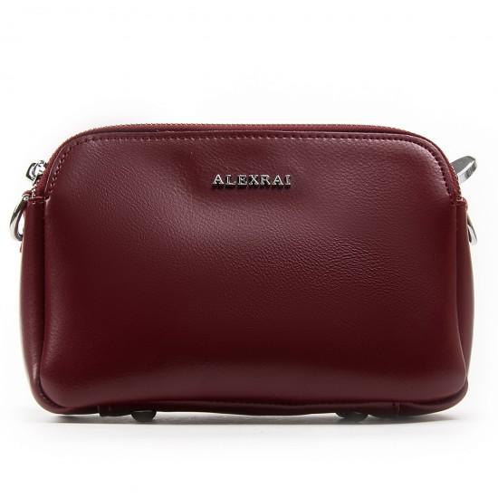 Женская сумочка из натуральной кожи ALEX RAI 8701 бордовый