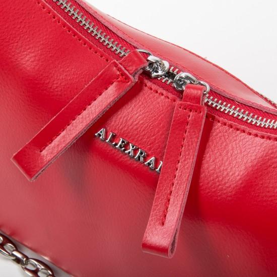 Женская сумка из натуральной кожи ALEX RAI 8691 красный