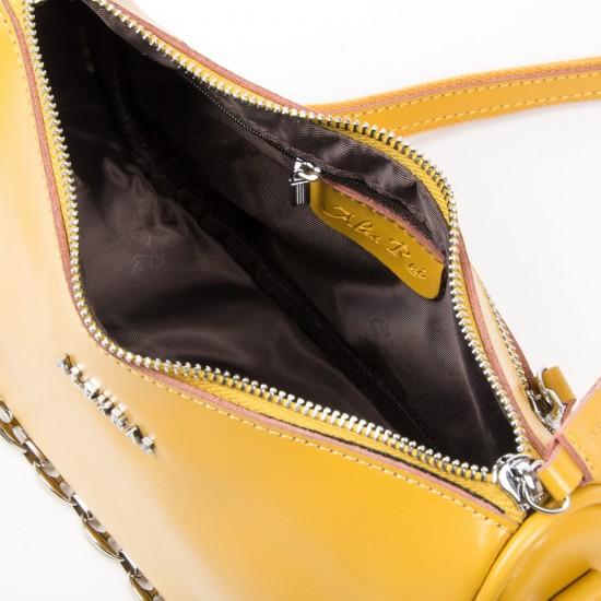 Жіноча сумка з натуральної шкіри ALEX RAI 8691 жовтий