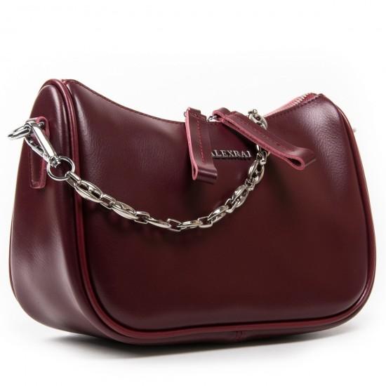 Женская сумка из натуральной кожи ALEX RAI 8691 бордовый