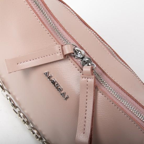 Женская сумка из натуральной кожи ALEX RAI 8691 пудра