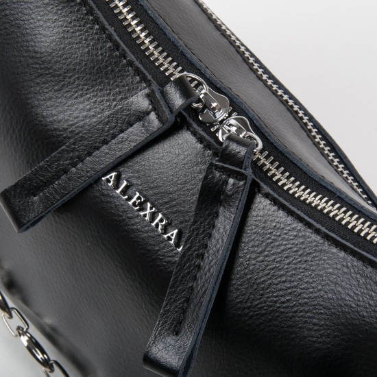 Жіноча сумка з натуральної шкіри ALEX RAI 8691 чорний