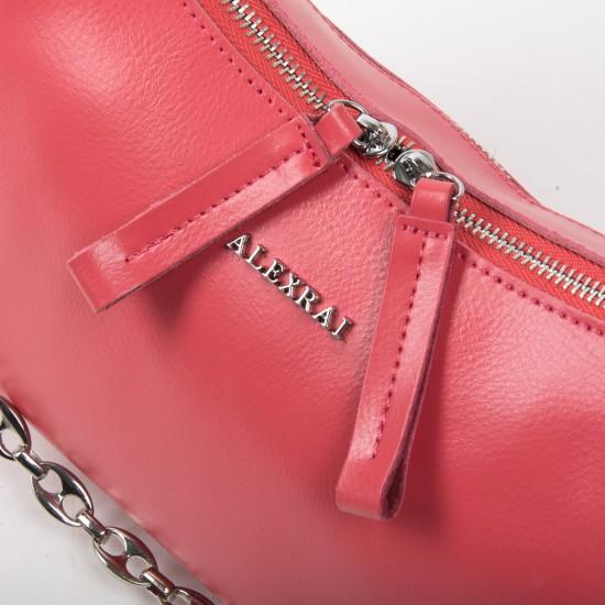 Женская сумка из натуральной кожи ALEX RAI 8691 фуксия