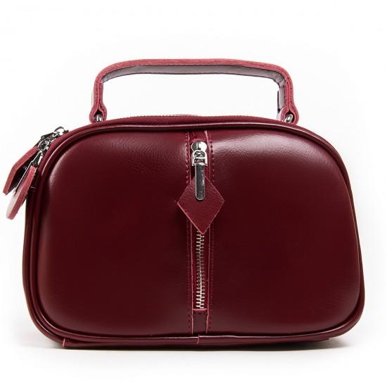 Женская сумка из натуральной кожи ALEX RAI 8389 бордовый