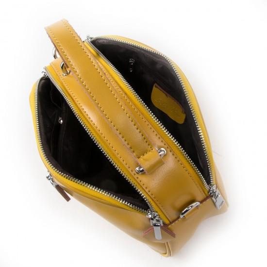 Жіноча сумка з натуральної шкіри ALEX RAI 8389 жовтий