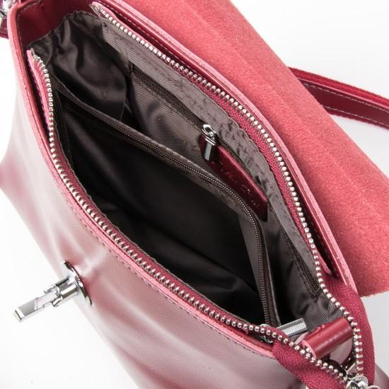Женская сумка из натуральной кожи ALEX RAI 321-1 бордовый
