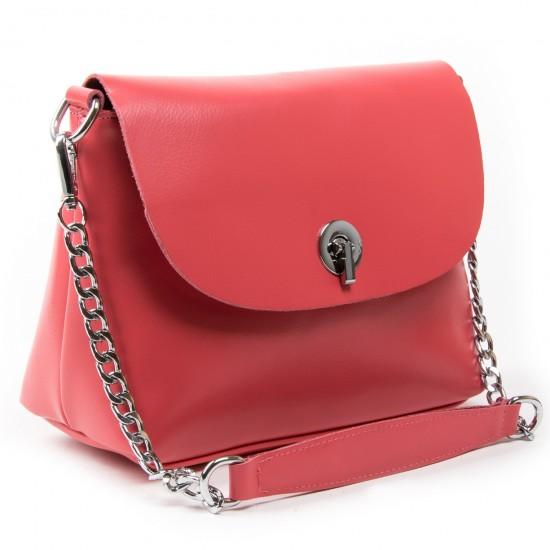 Женская сумка из натуральной кожи ALEX RAI 321-1 фуксия