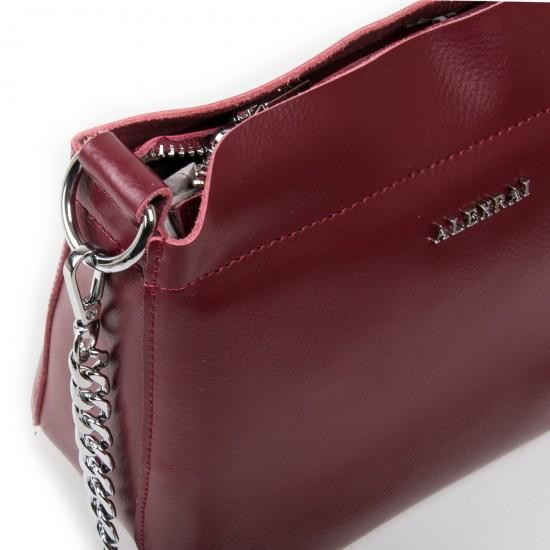 Жіноча сумочка з натуральної шкіри ALEX RAI 3101 бордовий