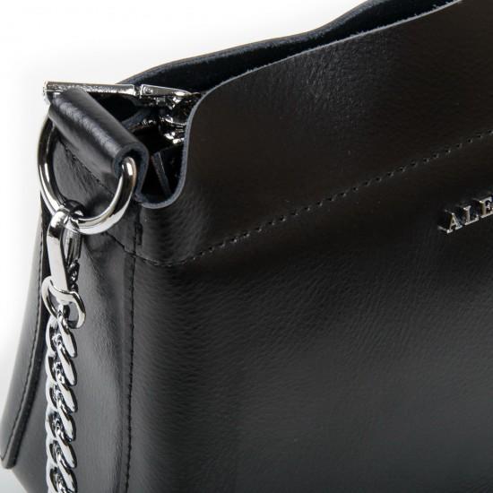 Жіноча сумочка з натуральної шкіри ALEX RAI 3101 чорний