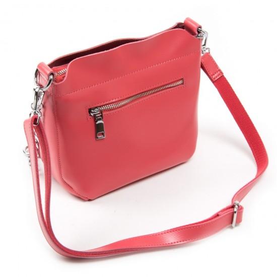 Женская сумочка из натуральной кожи ALEX RAI 3101 фуксия