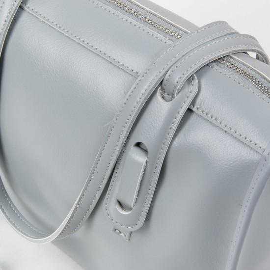 Женская сумка из натуральной кожи ALEX RAI 8797 серый