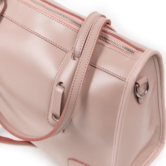Женская сумка из натуральной кожи ALEX RAI 8797 пудра