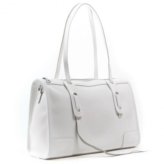 Женская сумка из натуральной кожи ALEX RAI 8797 белый