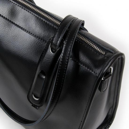 Жіноча сумка з натуральної шкіри ALEX RAI 8797 чорний