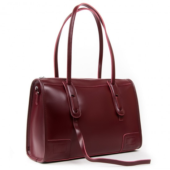 Женская сумка из натуральной кожи ALEX RAI 8797 бордовый