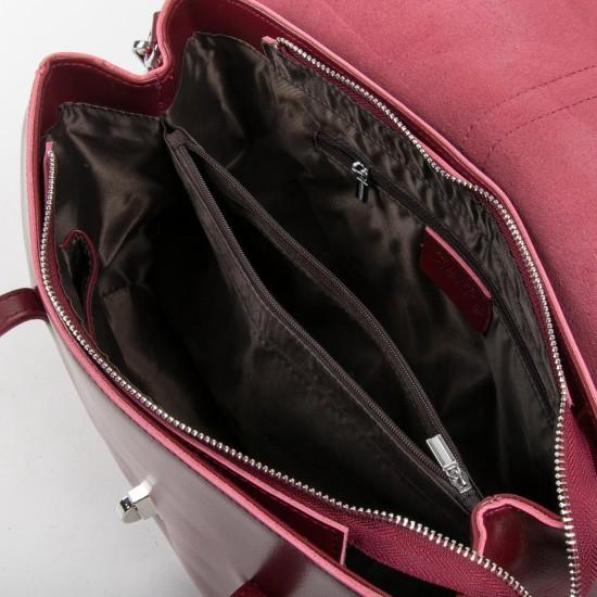 Жіноча сумка з натуральної шкіри ALEX RAI 8796 бордовий