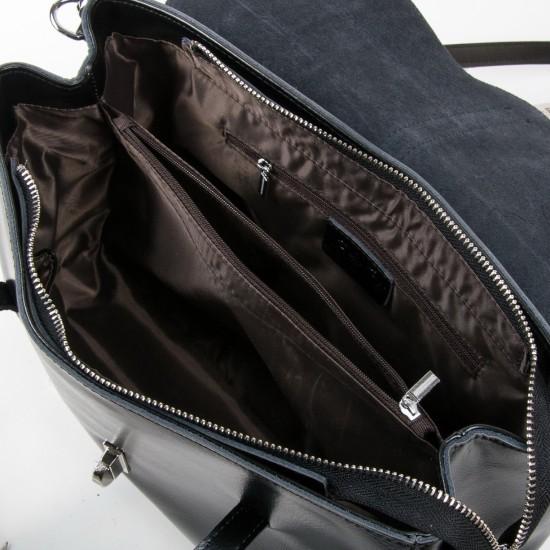 Женская сумка из натуральной кожи ALEX RAI 8796 черный