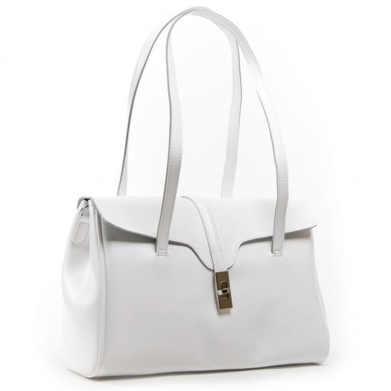 Женская сумка из натуральной кожи ALEX RAI 8796 белый