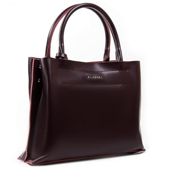 Жіноча сумка з натуральної шкіри ALEX RAI 8550-1 бордовий