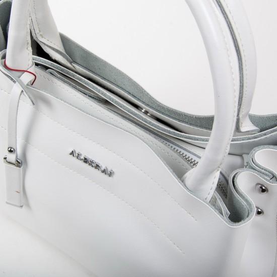 Женская сумка из натуральной кожи ALEX RAI 8550-1 белый