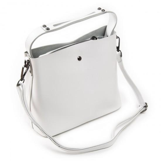 Жіноча сумка з натуральної шкіри ALEX RAI 8641 білий