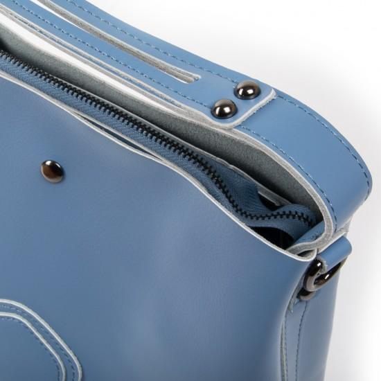 Женская сумка из натуральной кожи ALEX RAI 8641 голубой