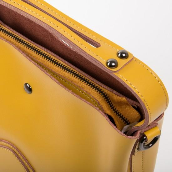 Жіноча сумка з натуральної шкіри ALEX RAI 8641 жовтий