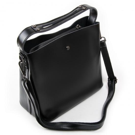 Жіноча сумка з натуральної шкіри ALEX RAI 8641 чорний