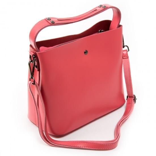 Жіноча сумка з натуральної шкіри ALEX RAI 8641 фуксія