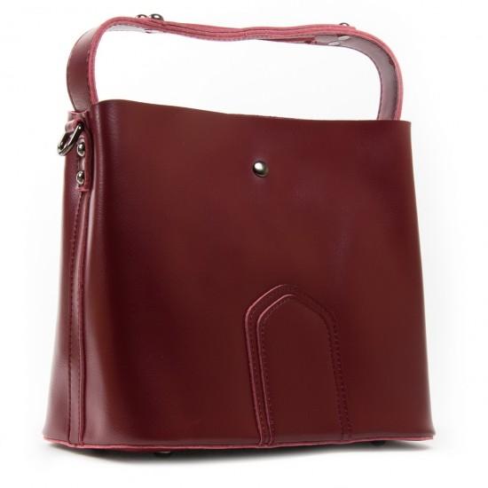 Жіноча сумка з натуральної шкіри ALEX RAI 8641 бордовий