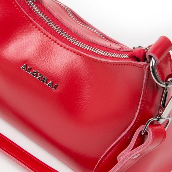 Женская сумка из натуральной кожи ALEX RAI 2232 красный