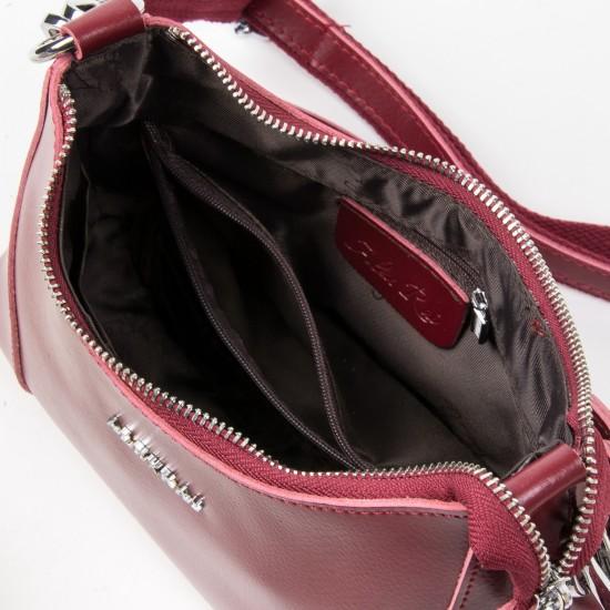 Женская сумка из натуральной кожи ALEX RAI 2232 бордовый