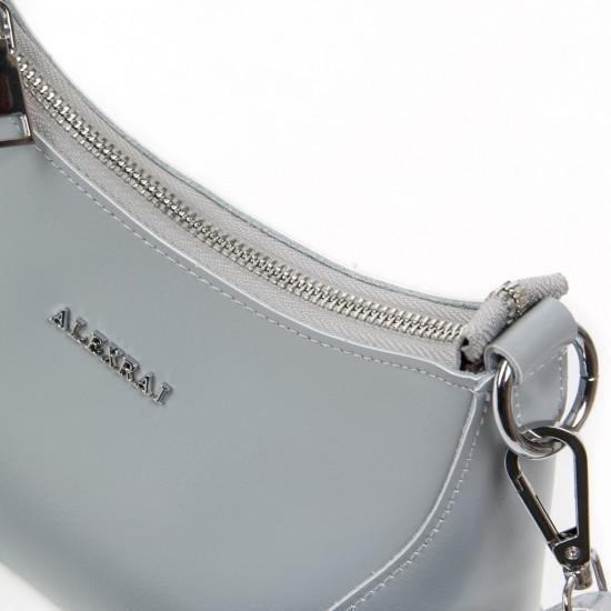 Жіноча сумка з натуральної шкіри ALEX RAI 2232 сірий