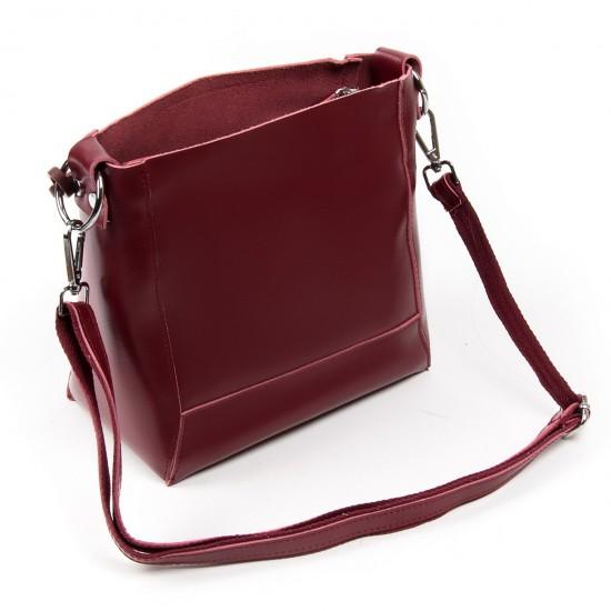 Женская сумка из натуральной кожи ALEX RAI 1897 бордовый