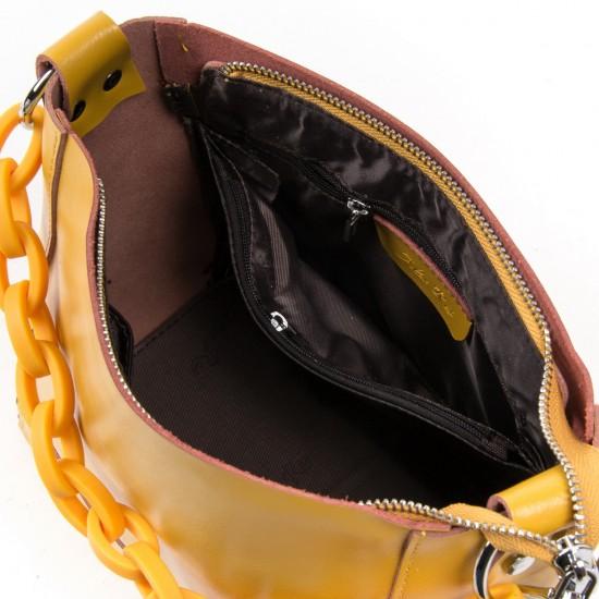 Женская сумка из натуральной кожи ALEX RAI 1897 желтый