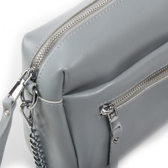 Жіноча сумочка з натуральної шкіри ALEX RAI 1052 сірий