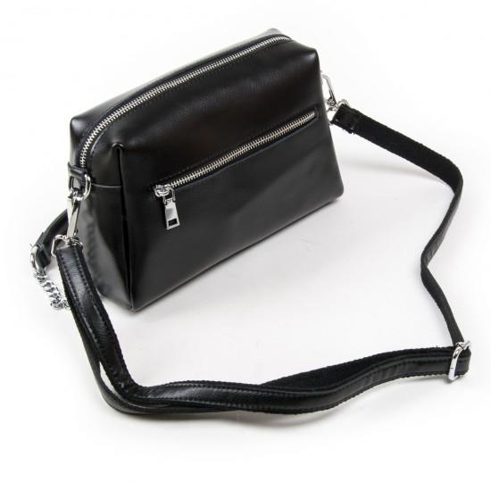 Жіноча сумочка з натуральної шкіри ALEX RAI 1052 чорний