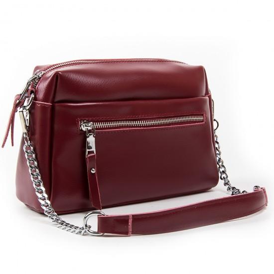 Жіноча сумочка з натуральної шкіри ALEX RAI 1052 бордовий