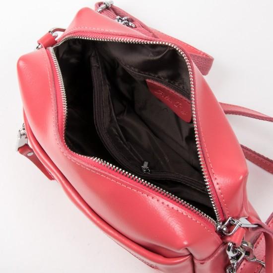 Женская сумочка из натуральной кожи ALEX RAI 1052 фуксия