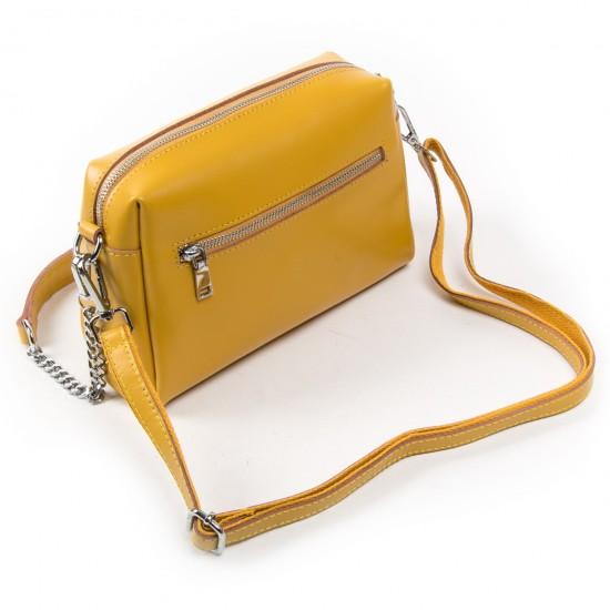 Женская сумочка из натуральной кожи ALEX RAI 1052 желтый