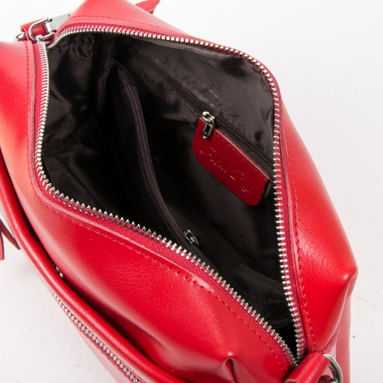 Женская сумочка из натуральной кожи ALEX RAI 1052 красный