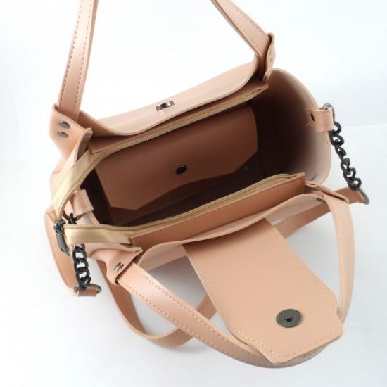 Жіноча модельна сумка LARGONI 1742A пудра