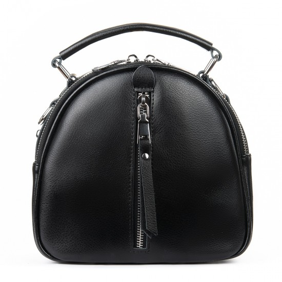 Жіноча сумочка-рюкзак з натуральної шкіри ALEX RAI 339 чорний