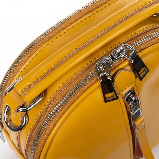 Женская сумочка-рюкзак из натуральной кожи ALEX RAI 339 желтый