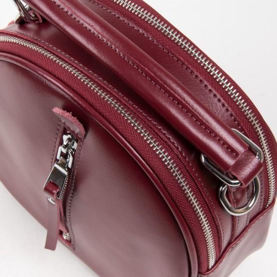 Женская сумочка-рюкзак из натуральной кожи ALEX RAI 339 бордовый