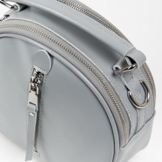 Жіноча сумочка-рюкзак з натуральної шкіри ALEX RAI 339 сірий