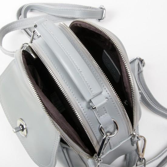 Женская сумочка-рюкзак из натуральной кожи ALEX RAI 2236 серый