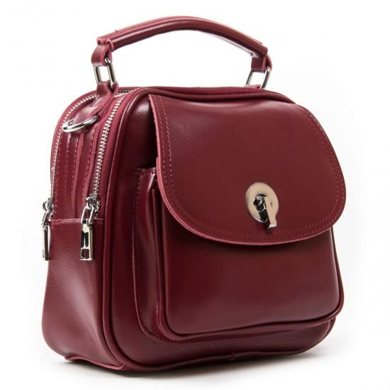 Жіноча сумочка-рюкзак з натуральної шкіри ALEX RAI 2236 бордовий