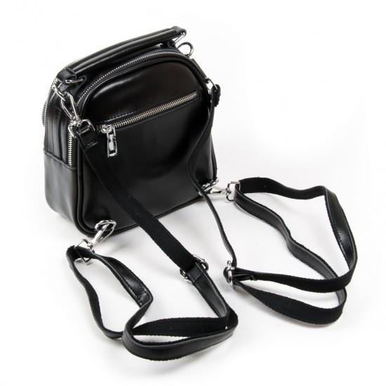 Жіноча сумочка-рюкзак з натуральної шкіри ALEX RAI 2236 чорний