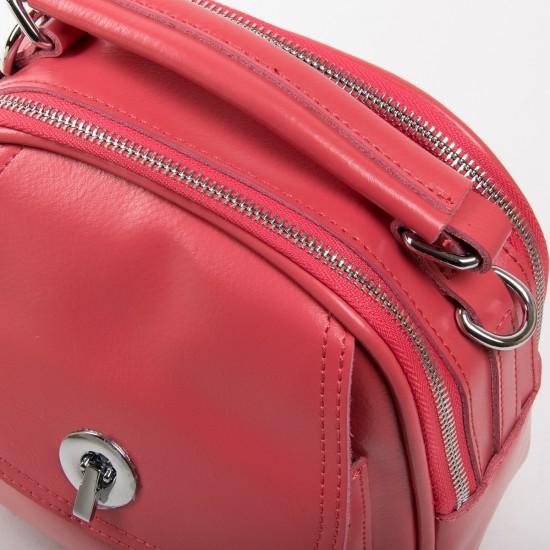 Жіноча сумочка-рюкзак з натуральної шкіри ALEX RAI 2236 фуксія